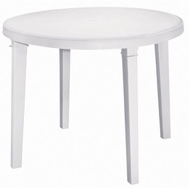 Bechet 38'' Dining Tables Pertaining To Most Popular Shop Adams Mfg Corp Amesbury 38 In X 38 In Resin Round (View 8 of 25)