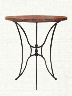 """Bechet 38'' Dining Tables Regarding Most Current Kenya 38"""" Round Copper Top Bar Table (View 14 of 25)"""