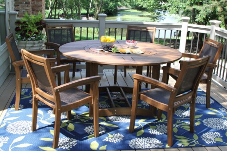 """Bekasi 63'' Dining Tables For Well Liked Large Round Eucalyptus Wood 63"""" Lazy Susan Dining Table (View 7 of 25)"""