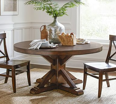 Benchwright Fixed Pedestal Dining Table (View 8 of 25)