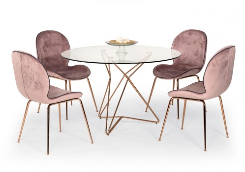 Benji 35'' Dining Tables For Widely Used Modrest Ashland Mid Century Glass Round Dining Table (View 9 of 25)