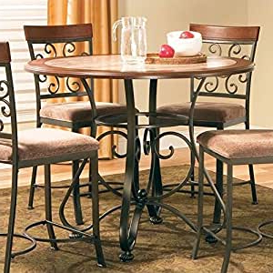 Best And Newest Amazon – Steve Silver Company Thompson Round Counter Within Desloge Counter Height Trestle Dining Tables (View 8 of 25)