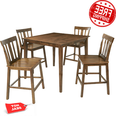 Best And Newest Contemporary Style 5 Piece Counter Height Dining Set Table With Regard To Shoaib Counter Height Dining Tables (View 15 of 25)