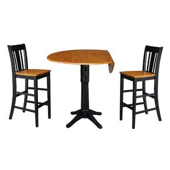 Best And Newest Dawid Counter Height Pedestal Dining Tables Regarding Rea 3 Piece Pub Table Set (View 4 of 25)