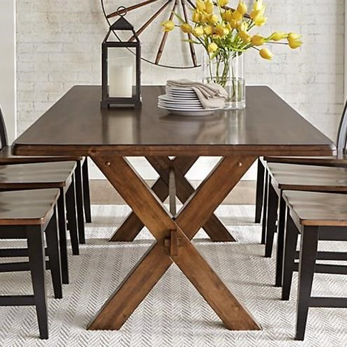 Best And Newest Dawid Counter Height Pedestal Dining Tables With Warehouse M 9108 Solid Wood Dining Table With X Base (View 14 of 25)