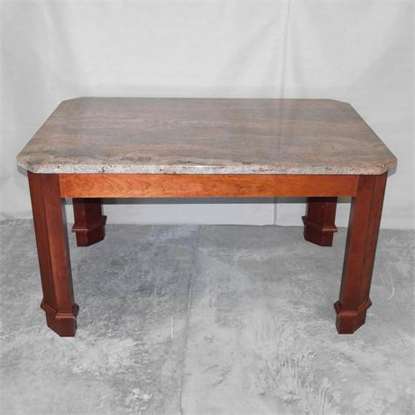 """Best And Newest Dixon 29'' Dining Tables Pertaining To Buyorbidonit – Granite Top Dining Table Heavy 54""""w X 36""""d (View 2 of 25)"""