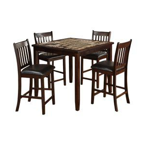 Best And Newest Dixon 29'' Dining Tables Within # Burley Oak 5 Piece Counter Height Dining Setred (View 25 of 25)