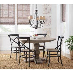Best And Newest Genao 35'' Dining Tables Intended For Home Decorators Collection Aldridge Antique Grey Round (View 7 of 25)
