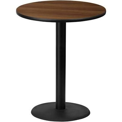 """Best And Newest Mode Round Breakroom Tables Intended For Pro Tough Bar Height Commercial 36"""" Round Laminate (View 10 of 25)"""