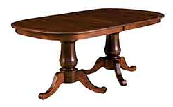 Best And Newest The Wood Loft – Amish Custom Kitchen And Dining Room Tables Inside Gaspard Extendable Maple Solid Wood Pedestal Dining Tables (View 17 of 25)
