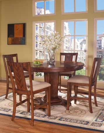 Best And Newest Unway Round Counter Height Pedestal Table Dining Room Set Inside Andreniki Bar Height Pedestal Dining Tables (View 14 of 25)