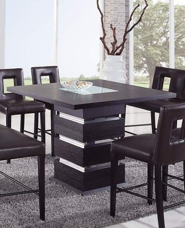 Best And Newest Wenge Contemporary Counter Height Bar Table: Prime Classic Within Charterville Counter Height Pedestal Dining Tables (View 19 of 25)