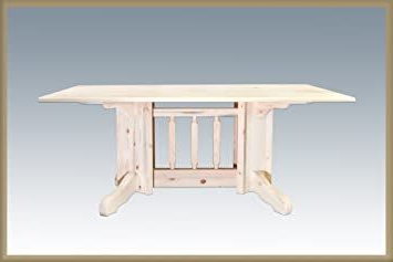 Bineau 35'' Pedestal Dining Tables Inside Newest Montana Woodworks Homestead Collection Double Pedestal (View 19 of 25)