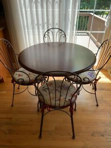 Bistro Dinette Set – Round Table With Four Chairsethan Intended For Most Current Steven 55'' Pedestal Dining Tables (View 12 of 25)