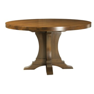 Blue Round Kitchen & Dining Tables You'll Love In 2020 Within Preferred Gaspard Extendable Maple Solid Wood Pedestal Dining Tables (View 2 of 25)