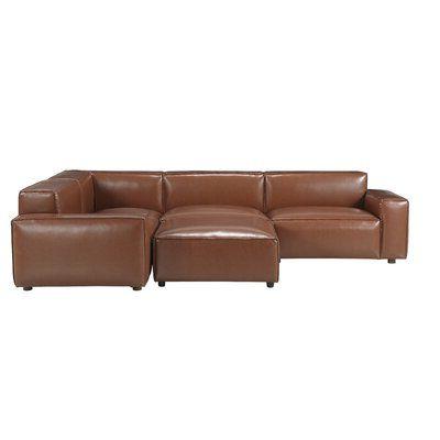 "Bobby Berk Home 119"" Reversible Modular Sofa & Chaise With Inside Latest Bobby Berk Trestle Dining Tables (View 24 of 25)"