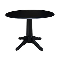 Boothby Drop Leaf Rubberwood Solid Wood Pedestal Dining Tables In Most Recent Canora Grey Angelia Extendable Drop Leaf Rubberwood Solid (View 14 of 25)