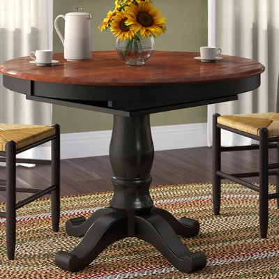 Bradly Extendable Solid Wood Dining Tables With Popular August Grove Nelle Extendable Solid Wood Dining Table (View 8 of 25)