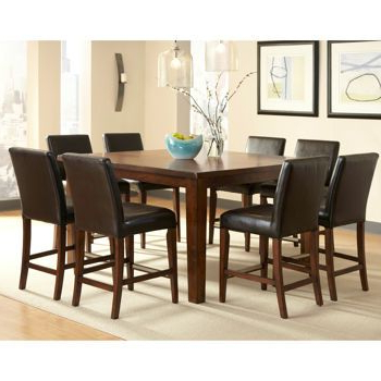 Brookshire 9 Pc Counter Height Dining Set – Costco For Popular Overstreet Bar Height Dining Tables (View 24 of 25)