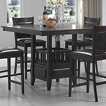 Bushrah Counter Height Pedestal Dining Tables Within Well Known Amazon – Coaster Hyde Counter Height Square Dining (View 10 of 25)