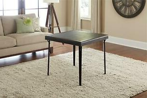 Cainsville 32'' Dining Tables Pertaining To Most Recently Released Square Wood Card Game Folding Table Vinyl Inset 32? Brown (View 4 of 25)