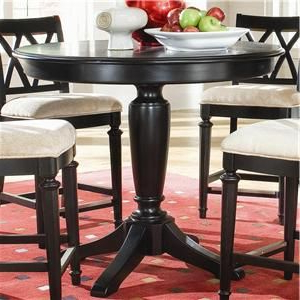 """Camden – Dark Round Counter Height Pub Table 42"""" Intended For Most Recent Counter Height Pedestal Dining Tables (View 4 of 25)"""