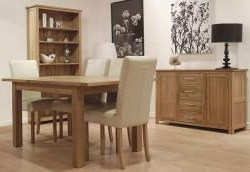 Carmen Dining Table – Ext 1800 – 2300 Solid Oak Extending Inside Most Current Balfour 39'' Dining Tables (View 17 of 25)