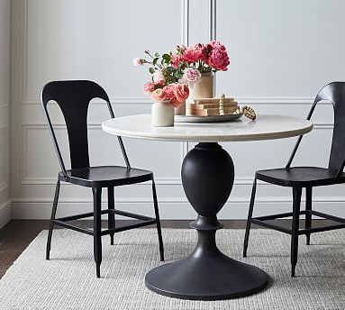 Chapman Round Marble Pedestal Dining Table (View 19 of 25)