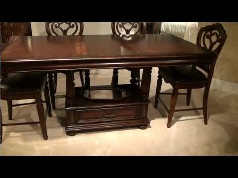 Charterville Counter Height Pedestal Dining Tables Intended For Best And Newest Barrington House Rectangular Counter Height Pedestal (View 21 of 25)