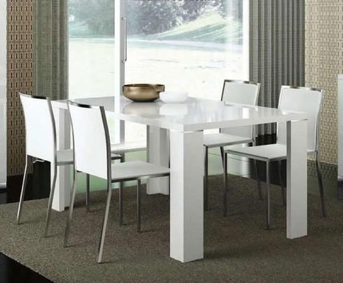 Classic Dining Tables Intended For Most Recently Released Italian White High Gloss Extendable Dining Table Elegance (View 21 of 25)