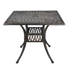 Clennell 35.4'' Iron Dining Tables Regarding Most Popular (View 2 of 25)