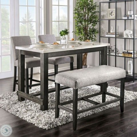 Cm3736pt Lg 4 Pc Red Barrel Studio Brule Antique Black With Regard To Current Romriell Bar Height Trestle Dining Tables (View 6 of 25)