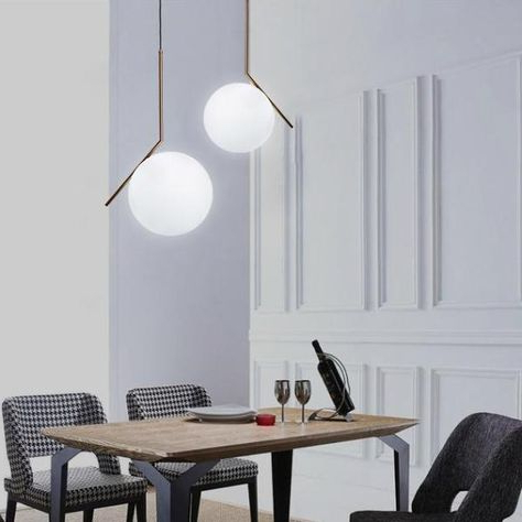 Collis Round Glass Breakroom Tables Throughout Most Recently Released Globe & Stick Ceiling Light (View 10 of 25)
