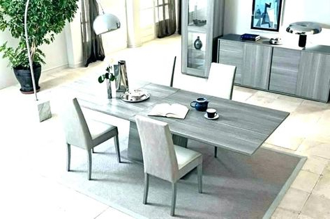 Colorful Grey Dining Table Set Graphics, Elegant Grey With Regard To Most Popular Akito (View 24 of 25)