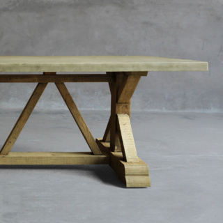 Concrete Trestle Leg Table – Clubcu With Regard To Best And Newest Nerida Trestle Dining Tables (View 18 of 25)