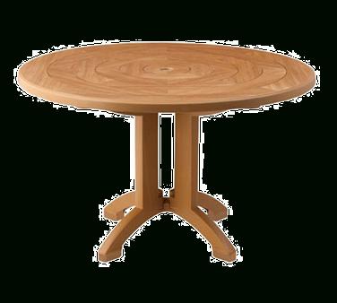 Corvena 48'' Pedestal Dining Tables For 2019 Us921208 Grosfillex – Atlantis Outdoor Pedestal Table (View 14 of 25)