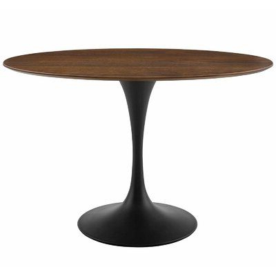 Corvena 48'' Pedestal Dining Tables Throughout Most Up To Date George Oliver Hesson 48 Dining Table Size: (View 19 of 25)