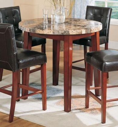 Cottage Counter Height Round Dining Table W Pedestal Base Pertaining To Well Known Liesel Bar Height Pedestal Dining Tables (View 2 of 25)