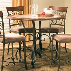 Counter Height Dining Tables Throughout 2019 Steve Silver Company Thompson Round Counter Height Dining (View 24 of 25)