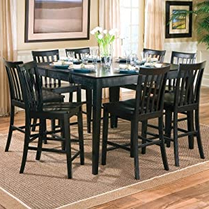 Counter Height Dining Tables Throughout Current Amazon – 9pcs Contemporary Black Counter Height Dining (View 16 of 25)