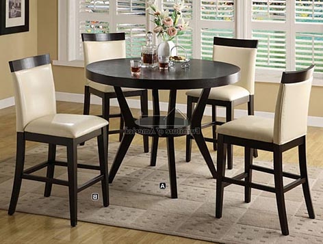 Counter Height Dining Tables With Regard To Fashionable Cm3423pt 5 Pc (View 4 of 25)