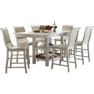 Counter Height Extendable Dining Tables Regarding 2020 Castagnier 7 Piece Extendable Dining Set In (View 6 of 25)