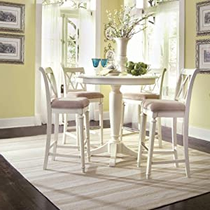 Counter Height Pedestal Dining Tables Throughout Trendy Amazon – Round Counter Height Ped Table – Bar Height (View 22 of 25)