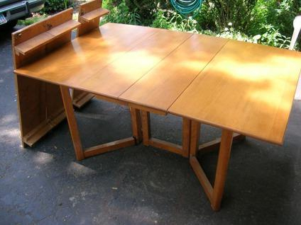 Current $295 Conant Ball Solid Maple Drop Leaf Dining Table 3 Regarding Drake Maple Solid Wood Dining Tables (View 2 of 25)