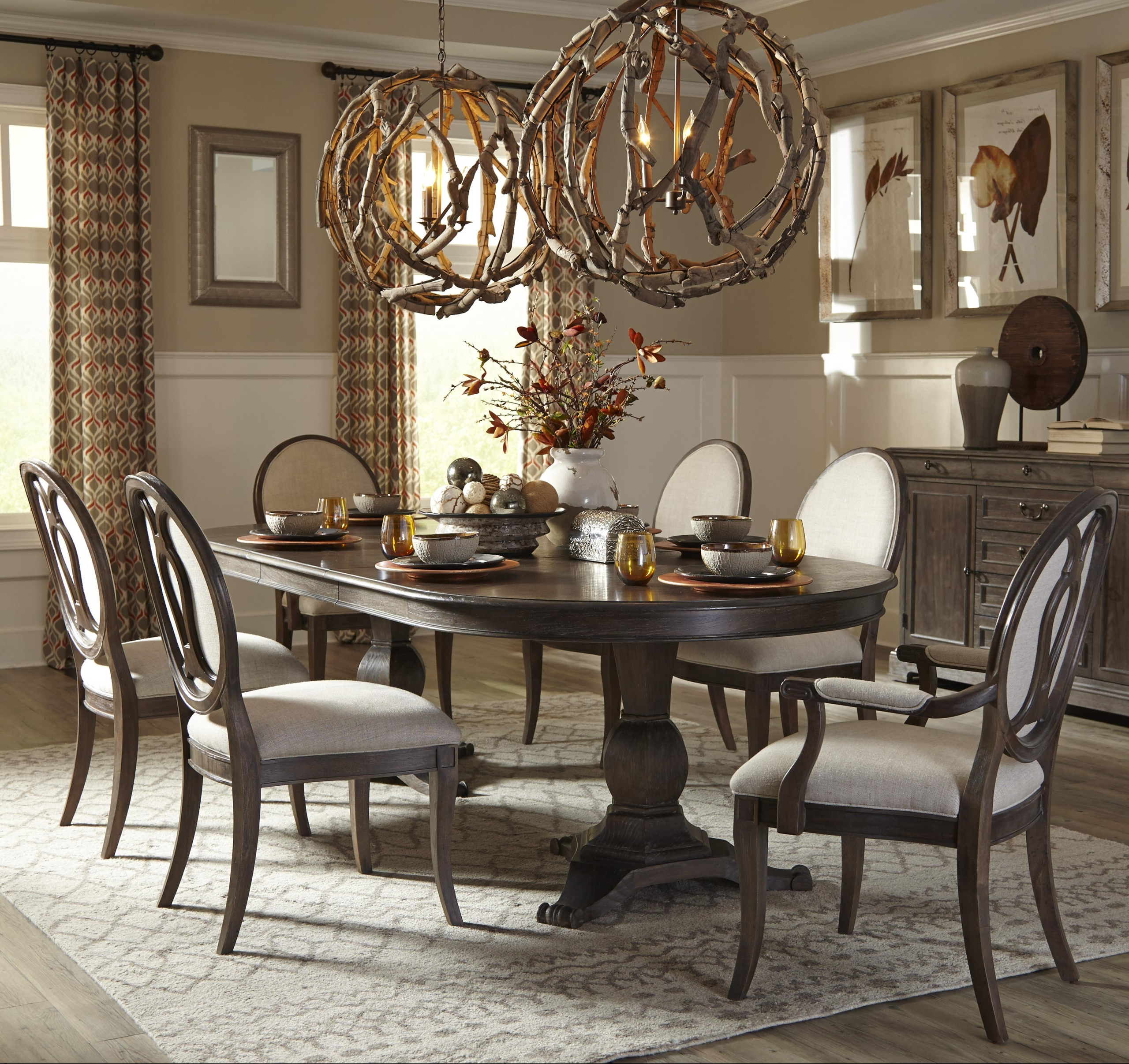 Current 50+ Double Pedestal Dining Table You'll Love In 2020 Within Sevinc Pedestal Dining Tables (View 16 of 25)