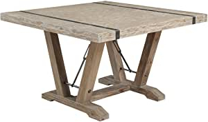 Current Amazon – Emerald Home Castle Bay Whitewashed Pine For Minerva 36'' Pine Solid Wood Trestle Dining Tables (View 6 of 25)