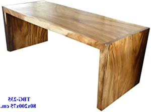 Current Amazon – Solid Mango Wood Dining Table Custom Sizes Intended For Alfie Mango Solid Wood Dining Tables (View 22 of 25)
