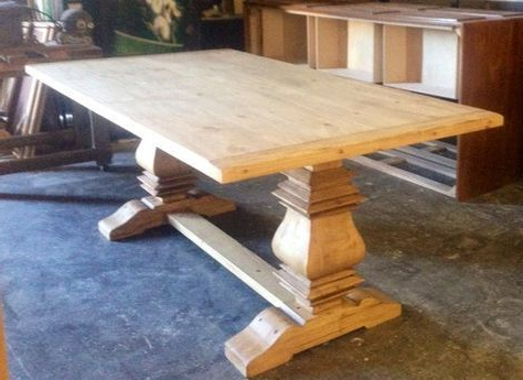 Current Bineau 35'' Pedestal Dining Tables Inside Handcrafted Pedestal Table (View 20 of 25)