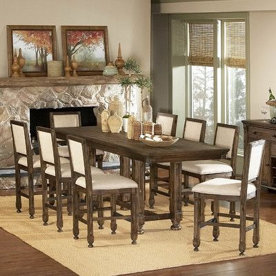 Current Dawid Counter Height Pedestal Dining Tables Inside Woodbridge Home Designs 893 Series Counter Height Dining (View 21 of 25)