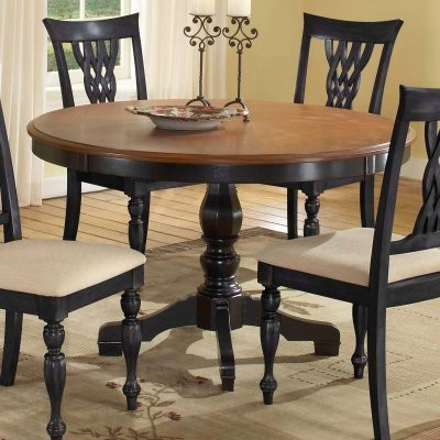 Current Exeter 48'' Pedestal Dining Tables Within Embassy Round Pedestal Table With 48 Inch Pattern Veneer (View 21 of 25)